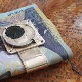 ArgintIon - Clemă pentru bani/acte cu monedă veche din argint