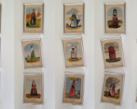 Port popular Franta si Coloniile, anii 1900, litografii color înrămate