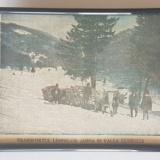 Transportul lemnelor, Valea Cerbului - fotografii de presa vechi de o suta de ani